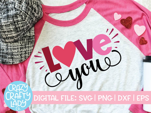 Love You SVG Cut File