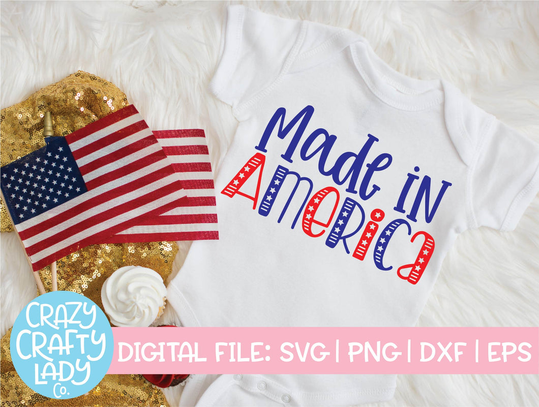 Made in America SVG Cut File