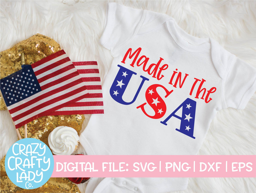 Made in the USA SVG Cut File
