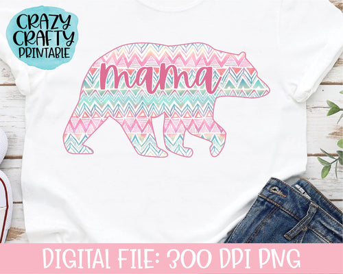 Mama Bear PNG Printable File