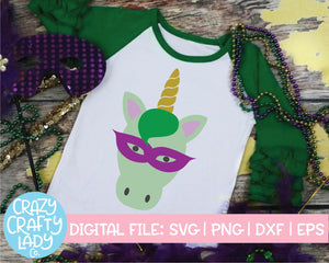 Mardi Gras Unicorn SVG Cut File