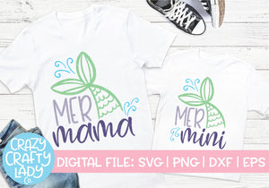 Mer Mama & Mer Mini SVG Cut File Bundle