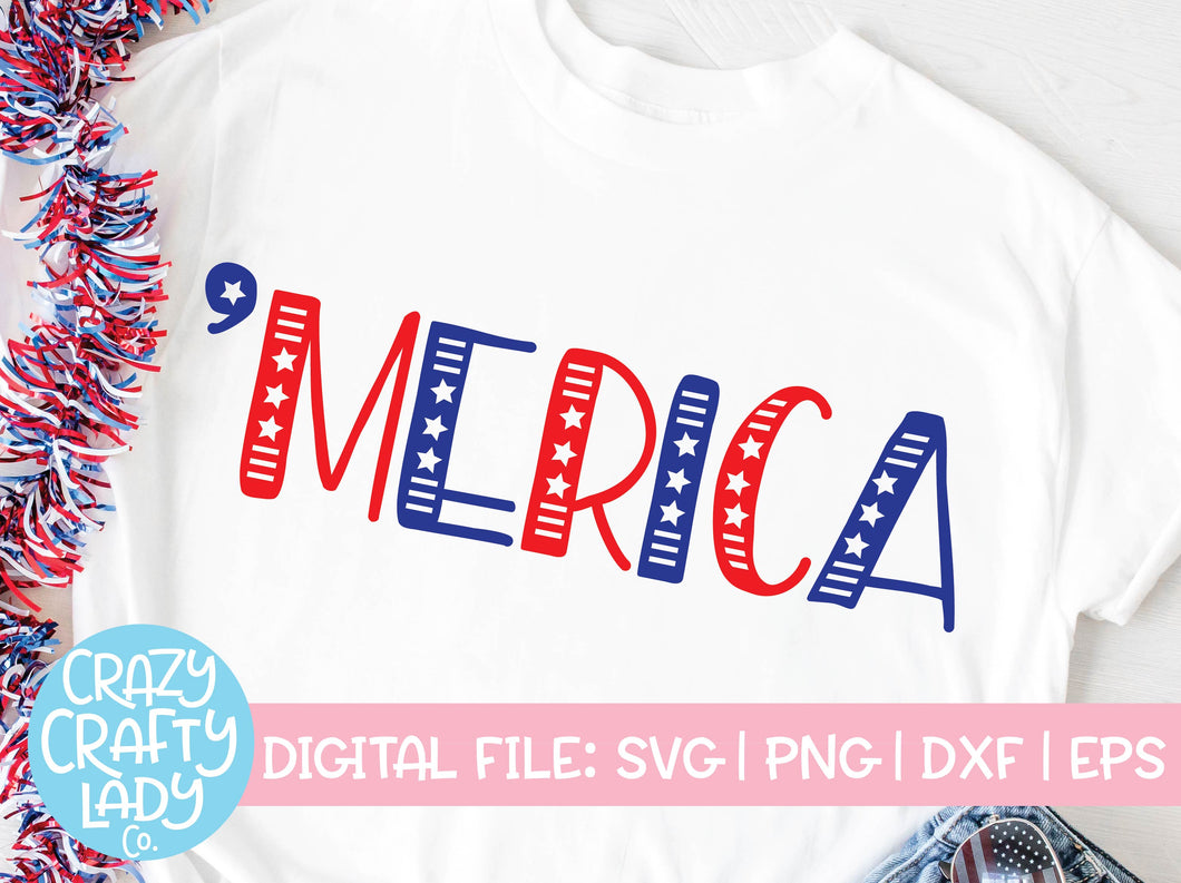'Merica SVG Cut File