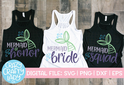Mermaid Bachelorette SVG Cut File Bundle