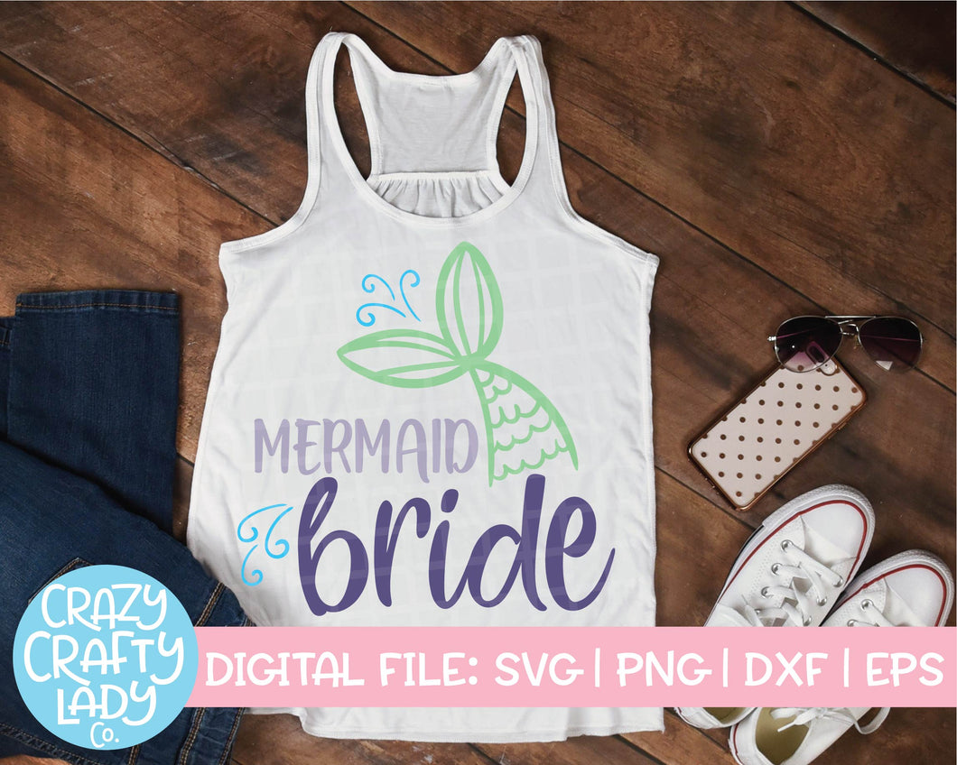 Mermaid Bride SVG Cut File
