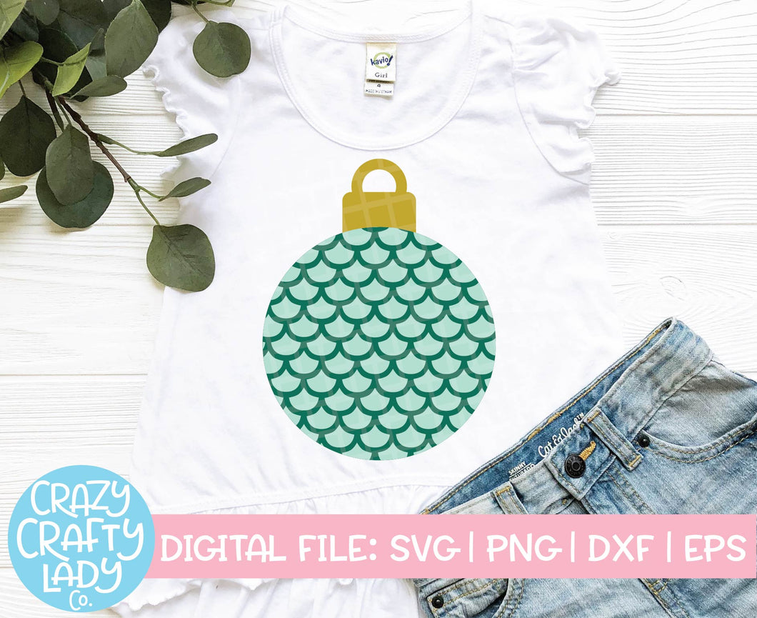 Mermaid Scale Ornament SVG Cut File