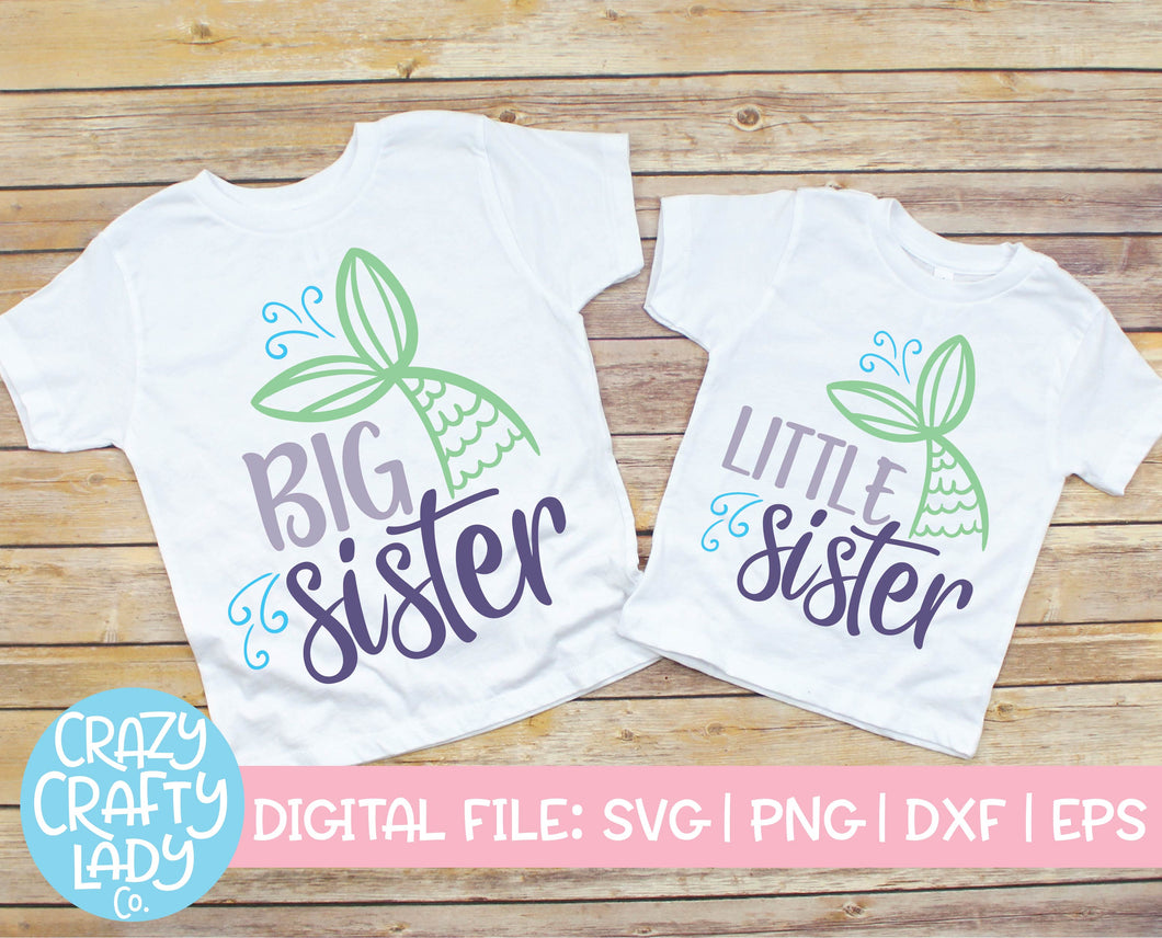 Mermaid Sister SVG Cut File Bundle