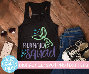Mermaid Squad SVG Cut File