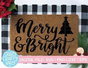 Merry & Bright SVG Cut File