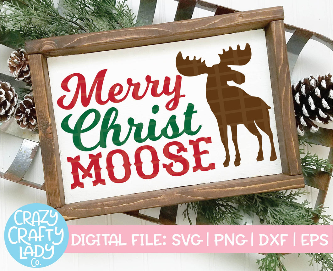 Merry Christmoose SVG Cut File