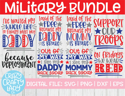 Military SVG Cut File Bundle