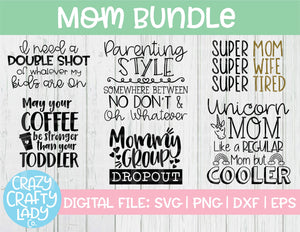 Mom SVG Cut File Bundle