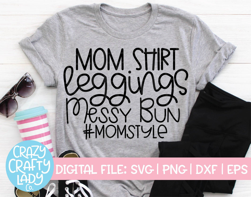 Mom Style SVG Cut File