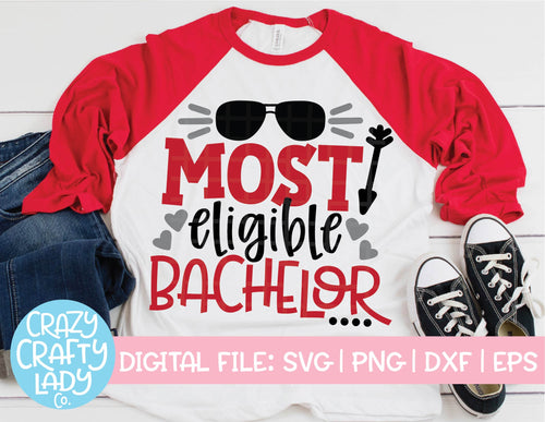 Most Eligible Bachelor SVG Cut File