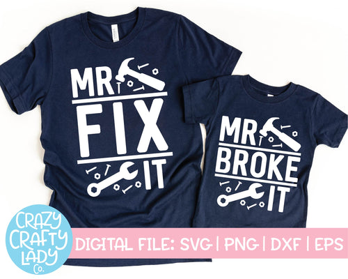 Mr. Fix It & Mr. Broke It SVG Cut File Bundle