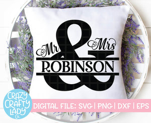 Mr. & Mrs. Split Ampersand SVG Cut File