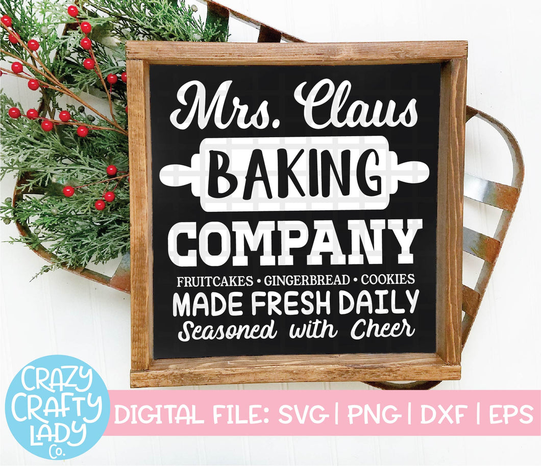 Mrs. Claus Baking Company SVG Cut File
