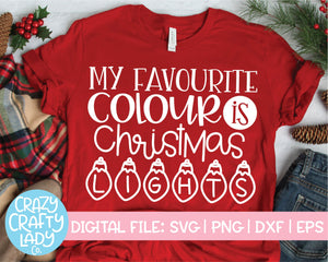 My Favourite Colour Is Christmas Lights SVG Cut File