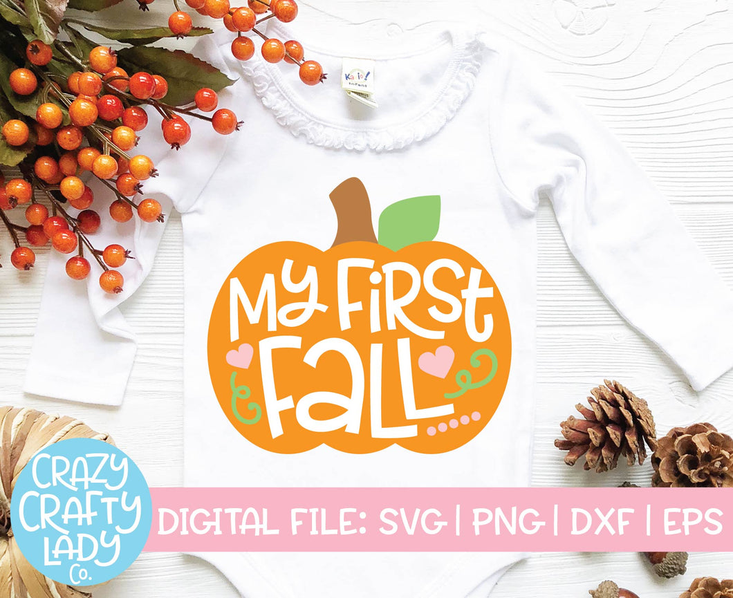 My First Fall SVG Cut File