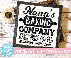 Nana's Baking Company SVG Cut File