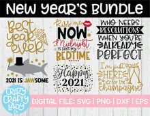Load image into Gallery viewer, New Year's SVG Cut File Bundle