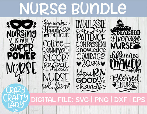 Nurse SVG Cut File Bundle