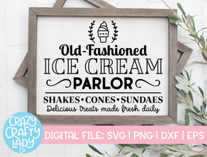 Old Fashioned Ice Cream Parlor SVG Cut File