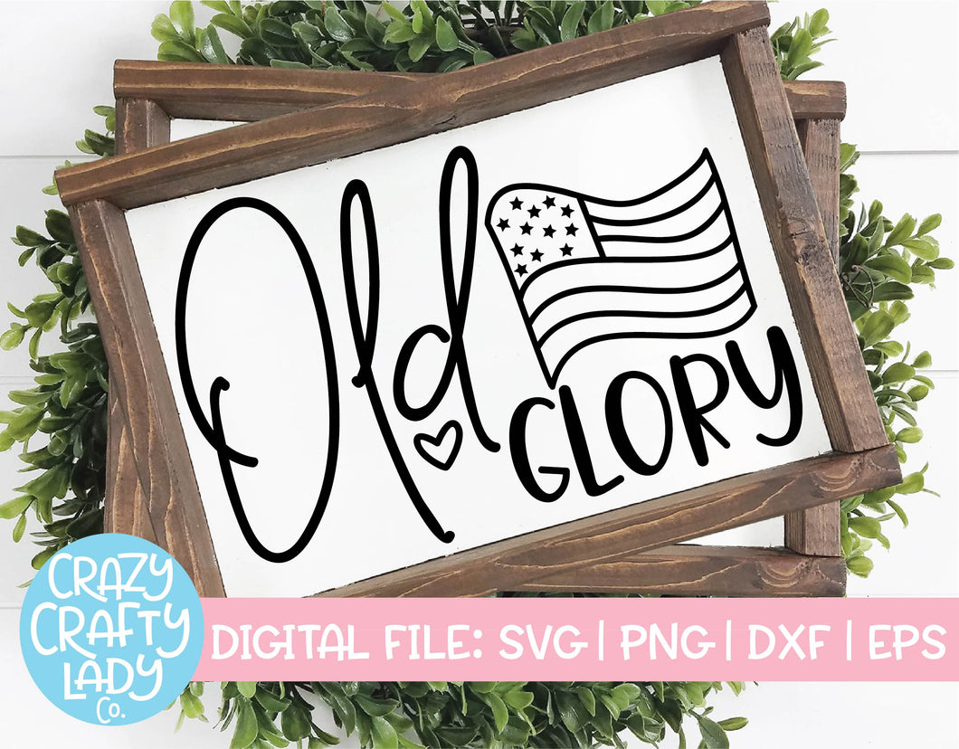 Old Glory SVG Cut File