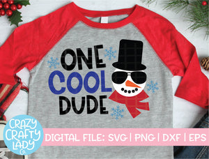 One Cool Dude SVG Cut File