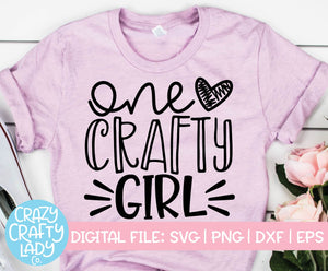 One Crafty Girl SVG Cut File