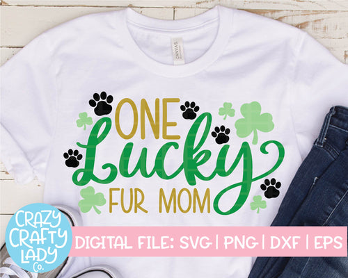 One Lucky Fur Mom SVG Cut File
