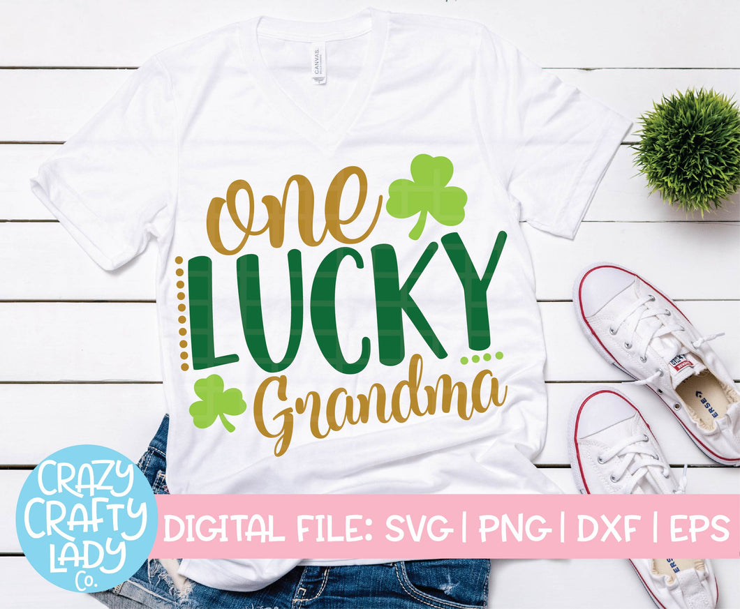 One Lucky Grandma SVG Cut File