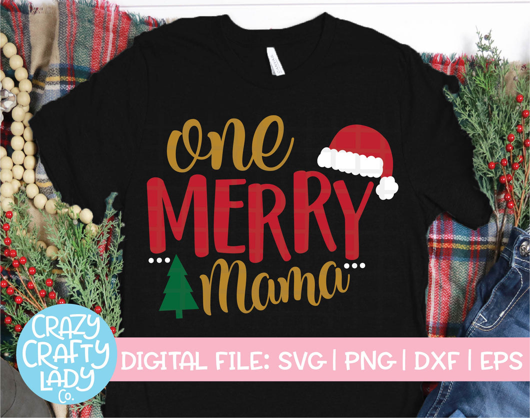 One Merry Mama SVG Cut File