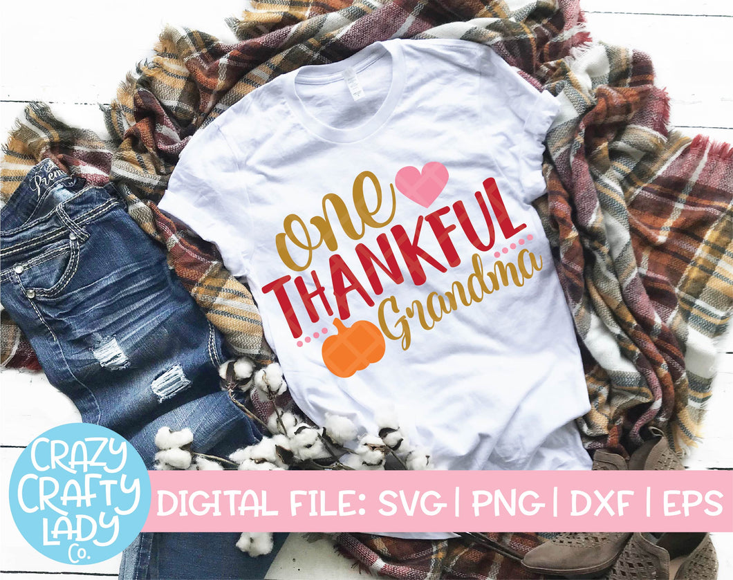 One Thankful Grandma SVG Cut File
