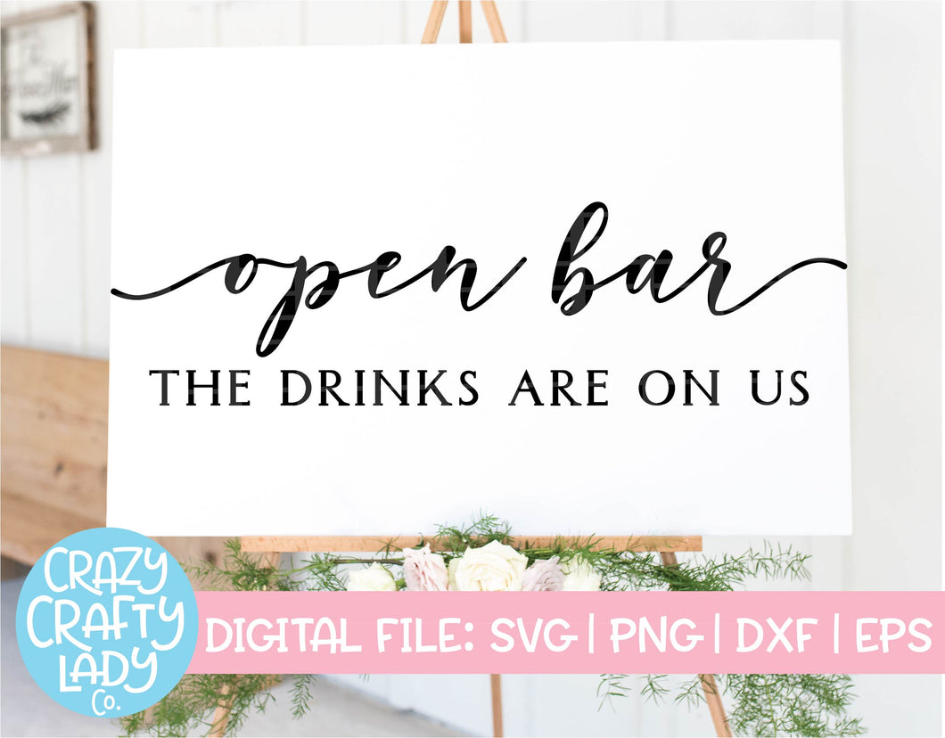 Open Bar SVG Cut File