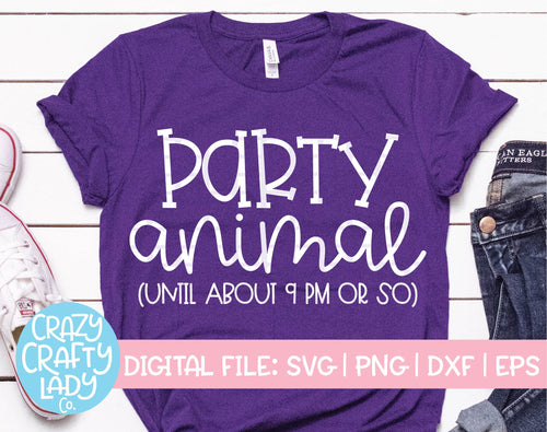 Party Animal SVG Cut File