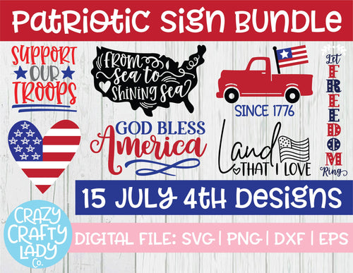 Patriotic Sign SVG Cut File Bundle
