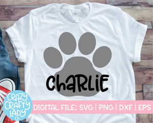 Paw Print SVG Cut File