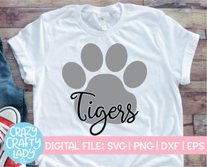 Tigers Paw Print SVG Cut File