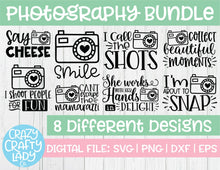 Load image into Gallery viewer, Photography SVG Cut File Bundle