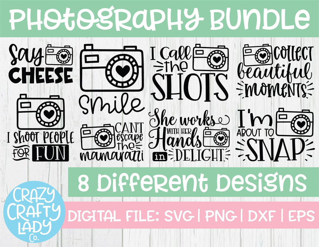 Photography SVG Cut File Bundle