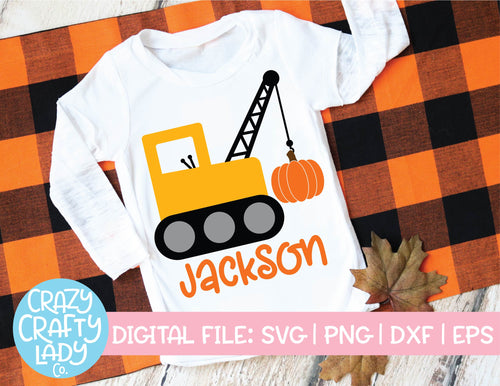Pumpkin Crane SVG Cut File