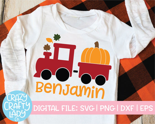 Pumpkin Train SVG Cut File