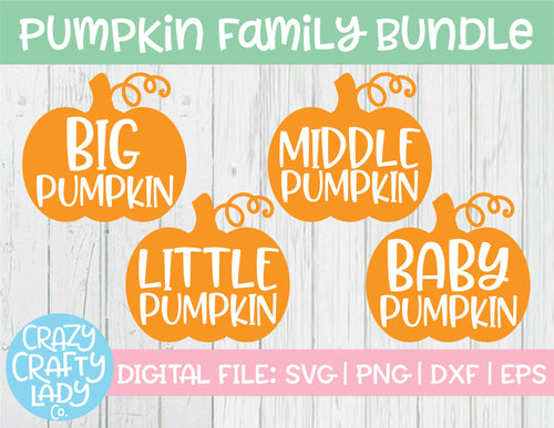 Pumpkin Family SVG Cut File Bundle