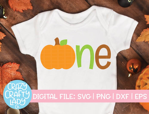 Pumpkin One SVG Cut File