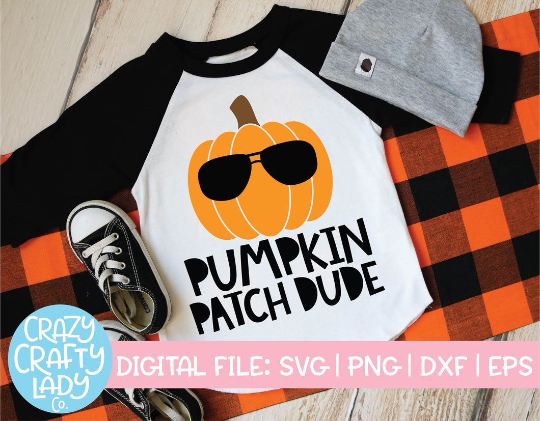 Pumpkin Patch Dude SVG Cut File