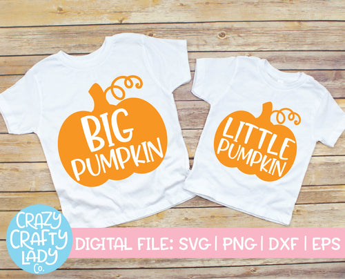 Pumpkin Sibling SVG Cut File Bundle