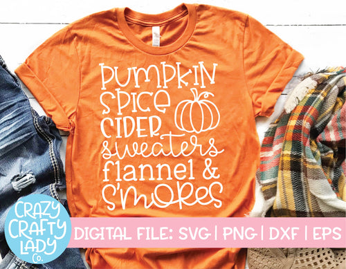 Pumpkin Spice, Cider, Sweaters SVG Cut File