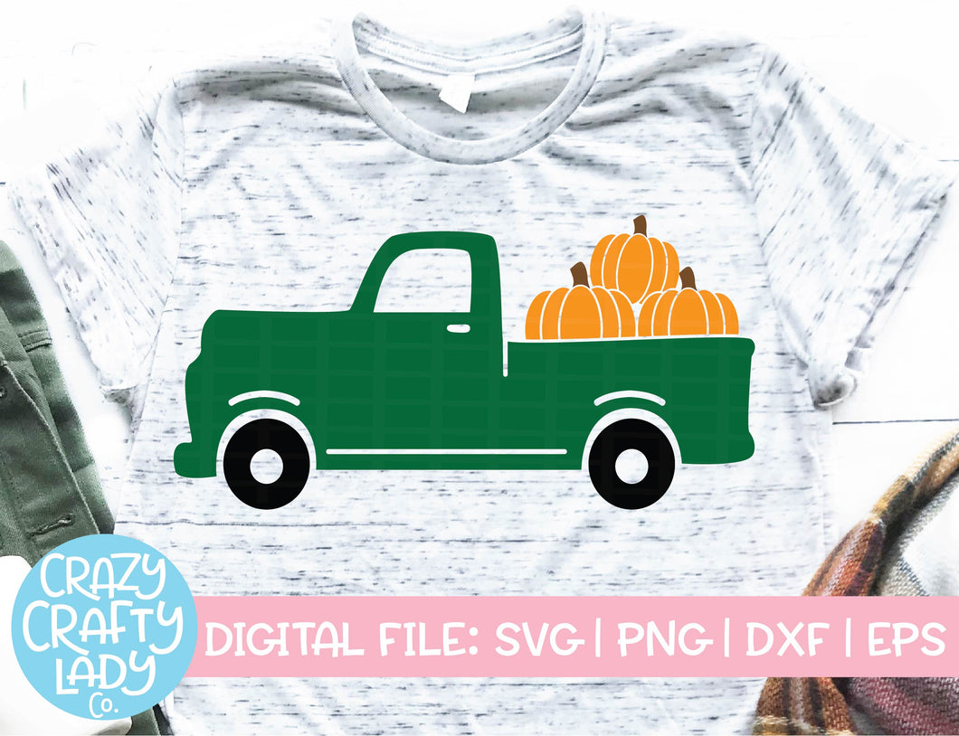 Pumpkin Truck SVG Cut File