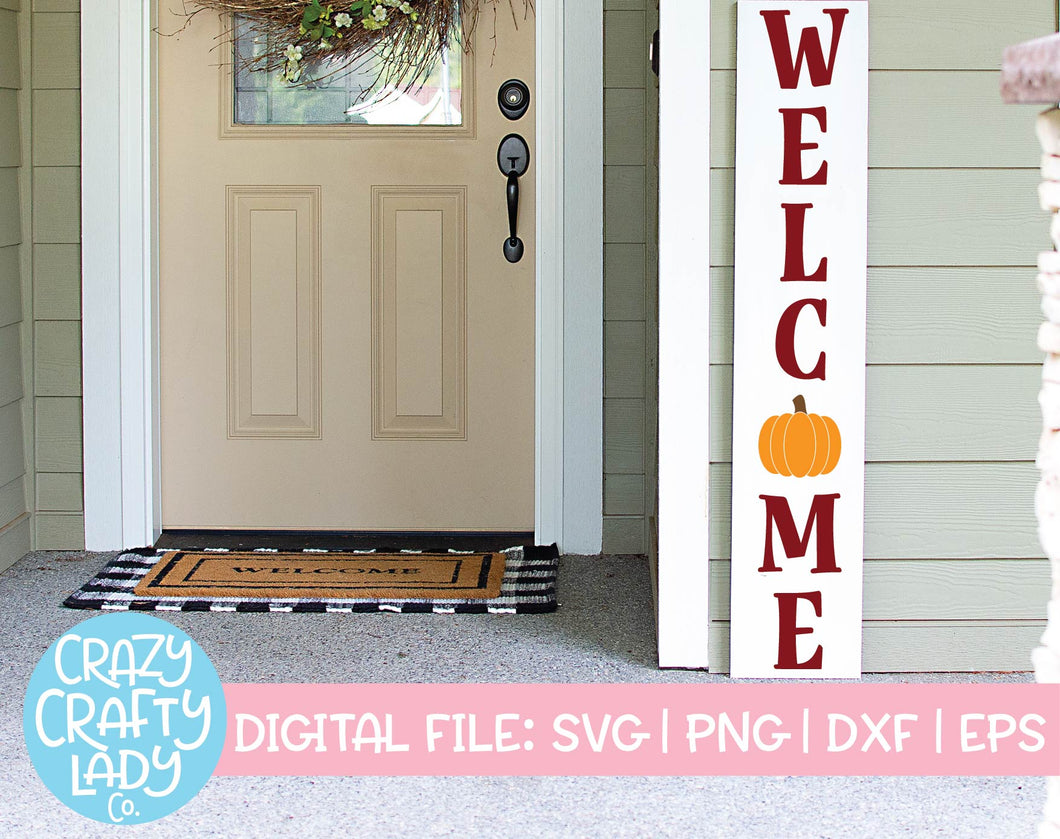 Pumpkin Welcome SVG Cut File